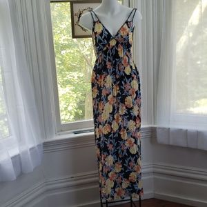 Xhiliration Floral Maxi Dress